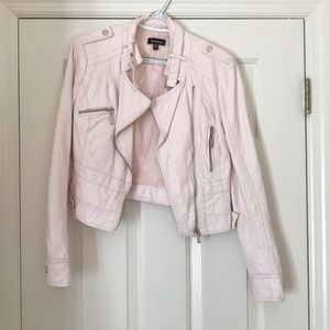 Fake leather pink Bebe jacket